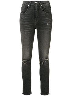 рваные джинсы с высокой талией Adaptation