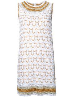 трикотажное платье мини с узором  Missoni