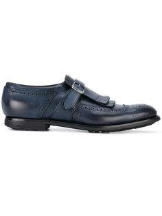туфли-монки с лямками на пряжках Churchs