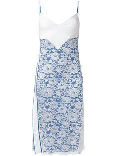 платье с кружевной вставкой  Paco Rabanne