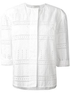 блузка без воротника  Veronique Leroy