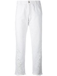 брюки кроя слим с вышивкой Ermanno Scervino