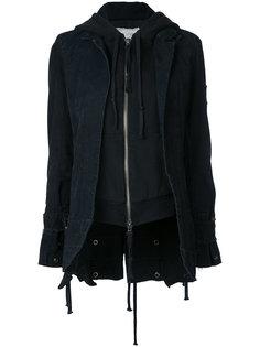 пиджак с трикотажной вставкой Greg Lauren