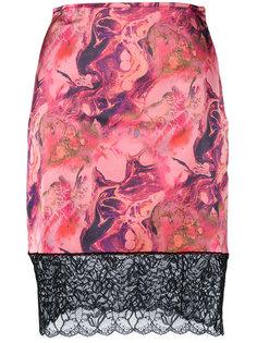 юбка с рисунком и кружевной отделкой Marquesalmeida