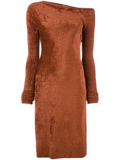 бархатистое платье Helmut Lang