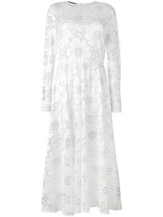 полупрозрачное расклешенное платье  Rochas