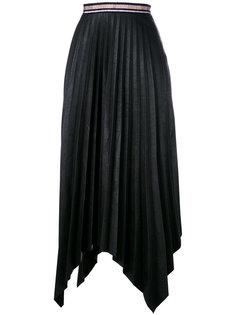 asymmetric pleated maxi skirt Aviù