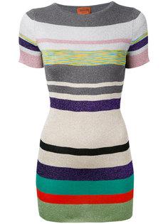 полосатая вязаная футболка Missoni