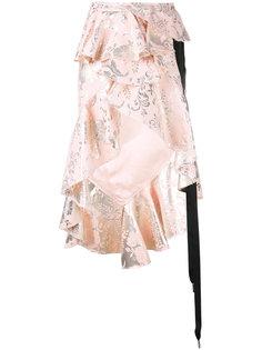 ruffled high low skirt Marquesalmeida