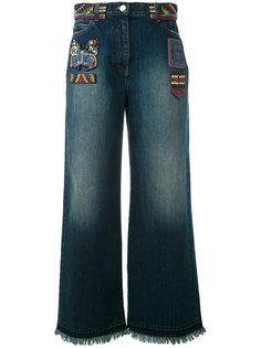 широкие джинсы с вышивкой из бисера Valentino