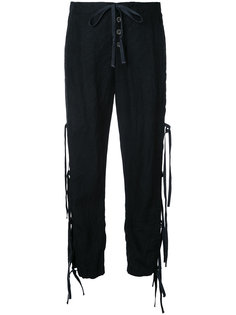 lace-up track trousers  Greg Lauren