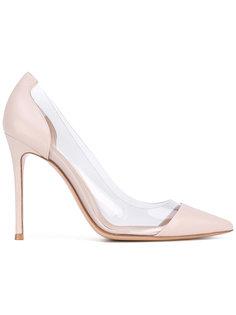 туфли с прозрачными вставками Gianvito Rossi