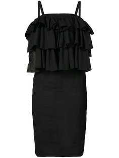 ruffled shift dress Martin Grant