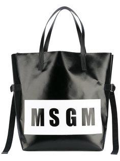 сумка-тоут с логотипом MSGM