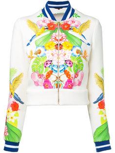 куртка-бомбер с тропическим рисунком Manish Arora