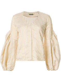 striped puff-sleeve blouse Hellessy