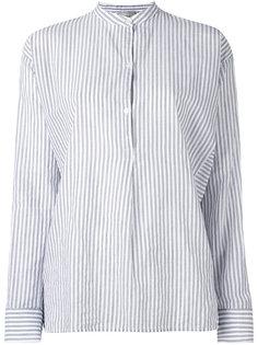 mandarin neck striped shirt Vince
