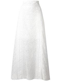 кружевная длинная юбка  Oscar de la Renta