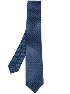 галстук с вышивкой Bulgari