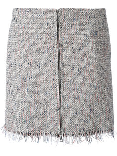 zipped tweed skirt  Theory