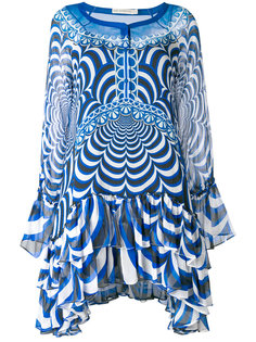 полупрозрачное асимметричное платье  Mary Katrantzou