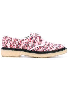 твидовые туфли со шнуровкой Adieu Paris