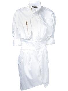 платье-рубашка на молнии Alexandre Vauthier