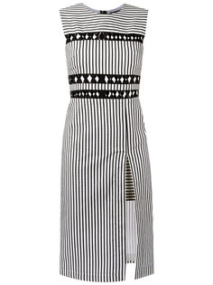 striped midi dress Reinaldo Lourenço