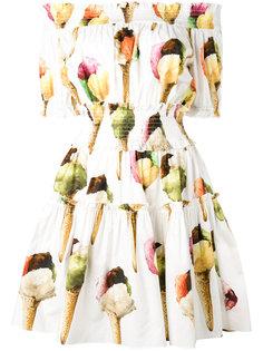 платье с принтом мороженого Dolce & Gabbana