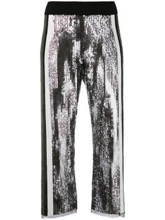 расклешенные брюки с пайетками Aviù