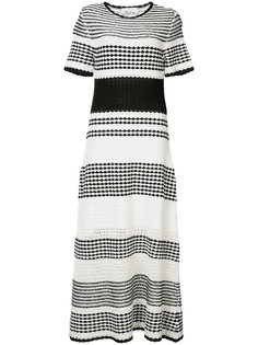 striped flared midi dress Novis