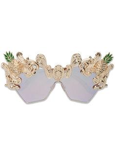 """солнцезащитные очки с ананасами в оправе """"кошачий глаз"""" Dolce & Gabbana"""