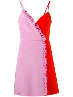 платье мини колор-блок  Fausto Puglisi