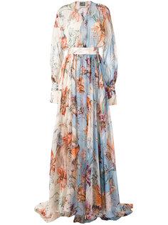 вечернее платье с цветочным принтом  Fausto Puglisi