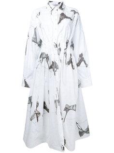 abstract print shirt dress Natasha Zinko