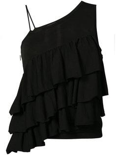 asymmetric ruffled blouse Co