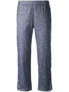 укороченные брюки с клешем ниже колена Theory