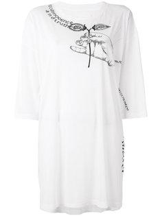 футболка свободного кроя с вышивкой  Maison Margiela