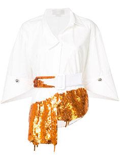 рубашка с поясом и пайетками Monse