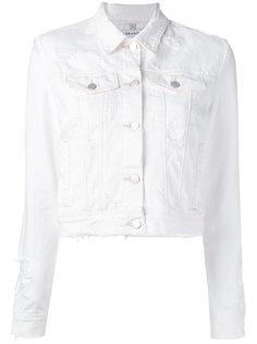 distressed denim jacket J Brand