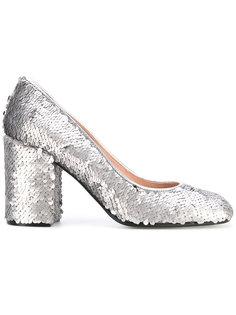 туфли с пайетками Pollini