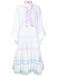 платье с расклешенными рукавами и рюшами Natasha Zinko