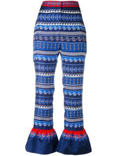 укороченные брюки с рюшами Mary Katrantzou