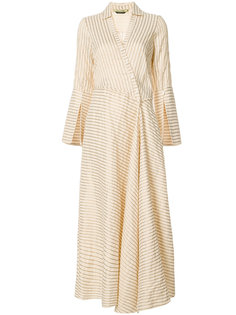 flared stripe wrap dress Hellessy