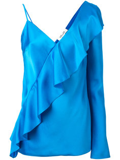 diagonal ruffle blouse Diane Von Furstenberg