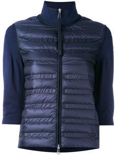 свитер со стеганой панелью Moncler