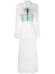 длинное платье с плиссировкой Marco De Vincenzo