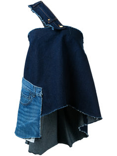 single shoulder denim blouse Natasha Zinko