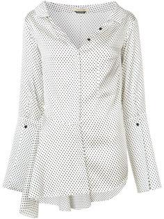 Bessette II asymmetric flounce shirt Hellessy