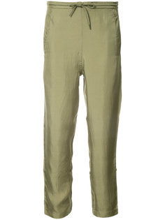 dragon embroidered tapered trousers Maharishi